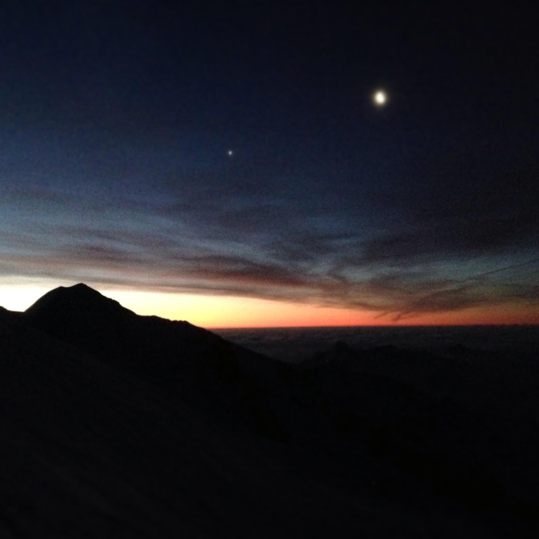 L'alba sul Monte Rosa